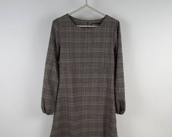 Tartan dress/Vintage inspiration/Retro dress/MIDI Length/Scottish fantasy/Tailor's shop/glam-chic