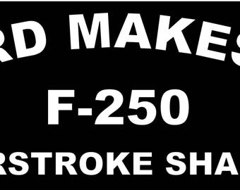 Download 11 tall American Flag powerstroke P decal sticker Ford
