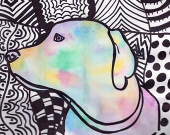 Watercolor Lab Print