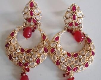 24k gold plated handmade earrings
