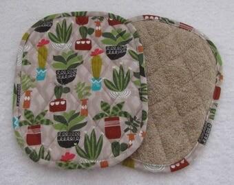 cactus potholders - set of 2
