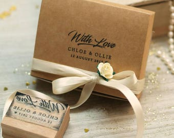 With Love  Custom Rubber Stamp, Wedding Stamp