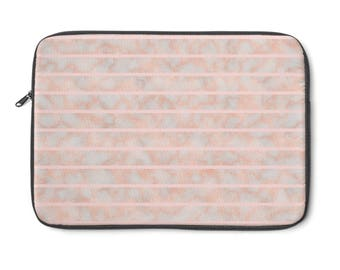 Rosegold Stripes Laptop Sleeve