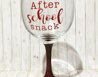 Teachers wineglass, teacher appreciation