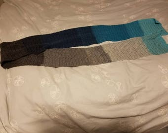Blues and Gray Scarf