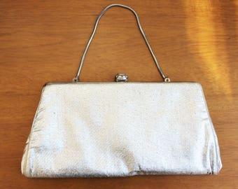 Shiny Silver Formal Clutch