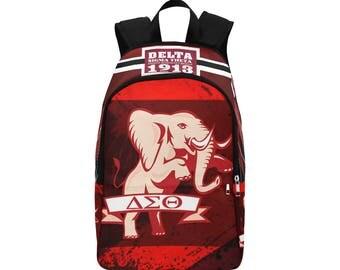 Delta Sigma Theta Custom Fabric Backpack