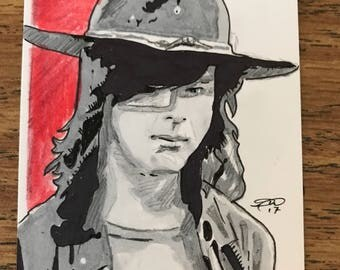 Walking Dead-Carl Grimes Sketch Card