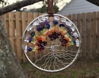 Chakra Gemstone Tree Of Life Sun catcher