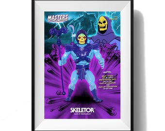 Masters of the Universe Action Figure Print - Skeletor