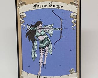 Magic the Gathering Faerie Rogue Token