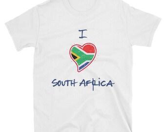I Love South Africa - short-sleeve unisex t-shirt