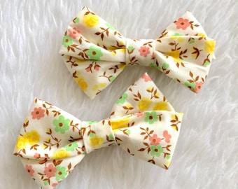 Vintage Floral Bow