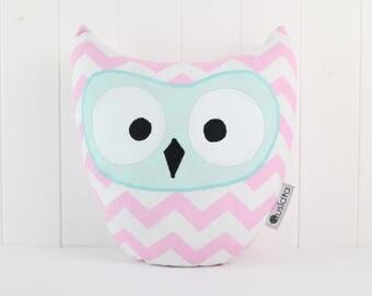 Owl Pillow-Chevron-Home Decor-Cushion Owl