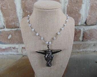 Long LongHorn Necklace