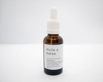 Oil beard/natural/France/fragrance lemon lavender and Peppermint / 30ml