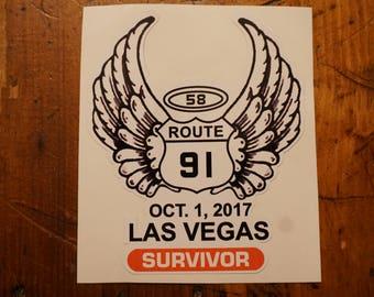 "Route 91 Harvest ""Survivor"" stickers"
