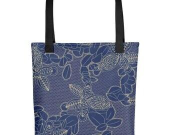 Blue Petals Tote bag