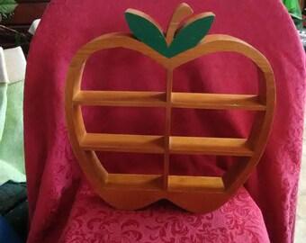 Vintage apple shelf.