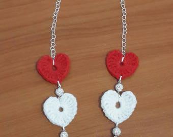 Infinite Love crochet necklace