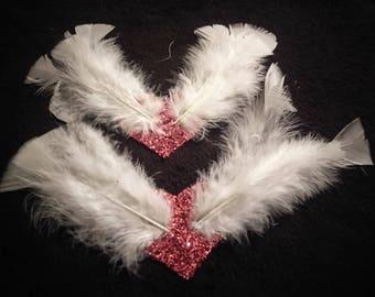 Flying hearts nipple pasties