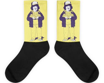 Yellow Dustin Socks | Stranger Things Store | Stranger Things Shirts, Mugs, Leggings & More