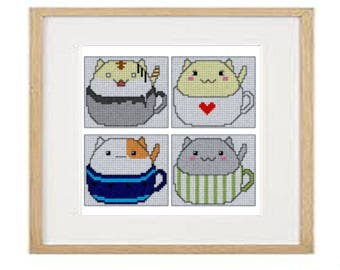 Cats 05 cross stitch pattern (download PDF)