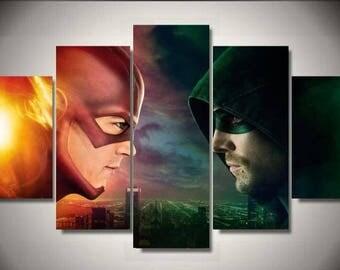Arrow-Flash 5pc Wall Canvas