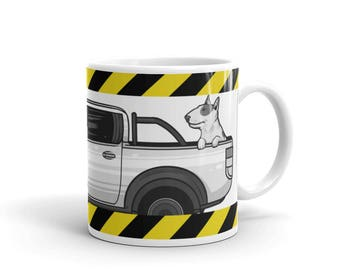 Bull Terrier Dog Mug - Pet Animal Lover Mug - Coffee Drink Mug