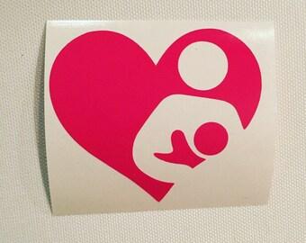 Mini breastfeeding decal