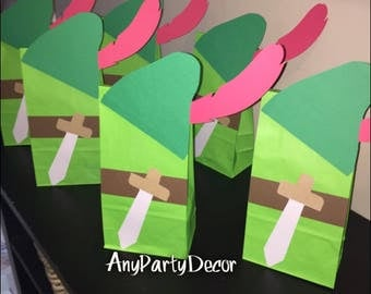 Peter Pan Birthday Party Favor bags - Peter Pan Baby Shower (10 count)