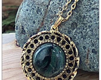 Beautiful Green Stone Necklace