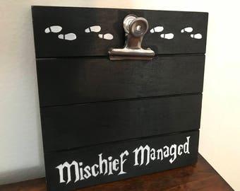 Harry Potter Mischief Managed Wooden Clipboard