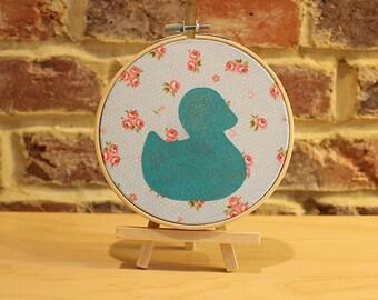 Decoration Hoop Blue Duck