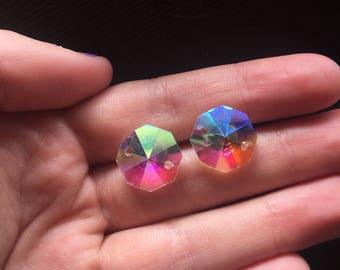 Rainbow Iridescent Earrings