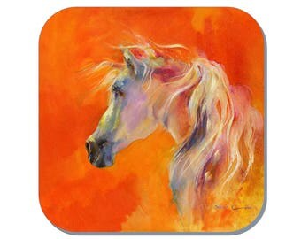 A Quiet Moment - Equine Coaster, Horse Coaster (Corked Back). From an original Sheila Gill Watercolour Painting