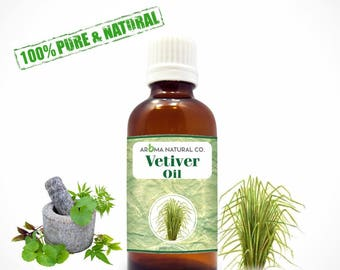 Vetiver Essential Oil Pure & Natural For Aromatherapy