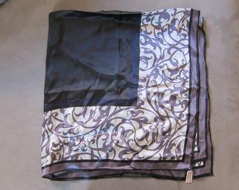 Vintage 1970's Anne Klein Silk Headscarf