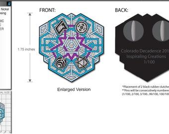 Decadence 2017 Geometric Snowflake Pin - Presale