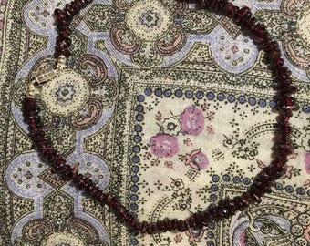 Garnet Chip Necklace