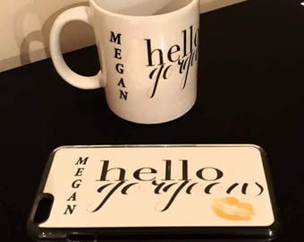 Hello gorgeous mug and iPhone case