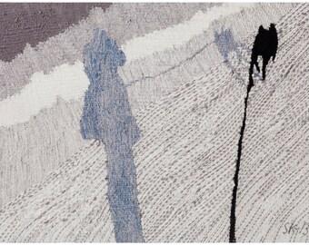 Reset to zero -giclée print of original weaved textile art work
