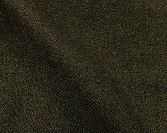 100% Cashmere Herringbone Fabric in Loden Green from Ralph Lauren woven in Italy-sold by the yard