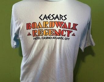 Vintage Caesars Casino Atlantic City New Jersey 1980s t shirt / vintage clothing / travel tourism / tourist tee t shirt XL