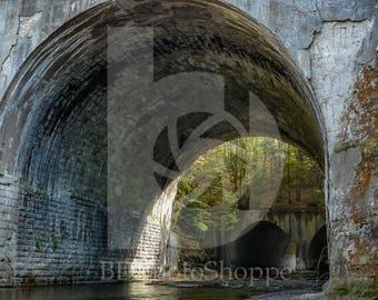 Stream Running Under Old Railways | Nature Photo Art | Gift | Fine Art Photography | Personalization | BDPhotoShoppe | Home Office Decor