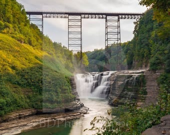 Upper Falls of Letchworth | Landscape Photo Art | Gift | Fine Art Photography | Personalization | BDPhotoShoppe | Home Office Decor