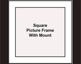 Square Picture Frames - White Mount - Picture Frames - Album Photo Frames - Wall Hanging Frames - Standing Frames