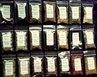 Witches Herb and Resin Set, Starter Kit, For Magical Spells, Mojo, Wiccan Pagan, Gift