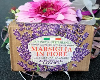 Handmade vegetable soap with lavender scent all Natural