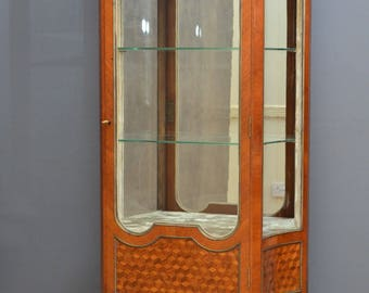 SN4193 A XIXth century tulipwood and rosewood vitrine